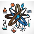 Science trendy icons pack for design vector image