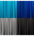 set curtain vector image