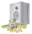 safe and money vector image vector image