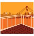 Cityscape Bridge Scene vector image