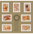Cute stamp and postmark collection vector image
