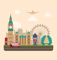 Design Poster for Travel of England Urban vector image