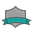 elegant badge shield with ribbon icon vector image