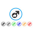 excellent erection symbol rounded icon vector image