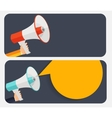 Hand with Megaphone and Speech Bubble vector image