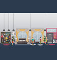 home gym concept flat vector image