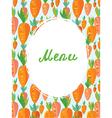 Menu template for vegetarian cafe vector image
