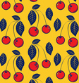 red cherry background pattern vector image