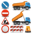 Road Construction Icons set 2 vector image