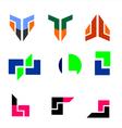 Technology logo set vector image