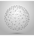 Wireframe 3D mesh polygonal sphere vector image