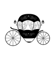 Pink princess cinderella fairytale carriage vector