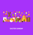 easter sunday greeting postcard vector image
