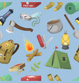 travel outdoor camp recreation expedition vector image