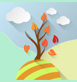 tree leaf info vector image