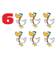Six geese a laying cartoon vector image
