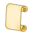 paper scroll silhouette symbol icon design vector image