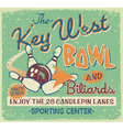 Vintage bowling signboard vector image vector image