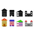 Small houses vector image