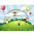 Children and park vector image vector image