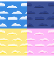 seamless clouds vector image vector image