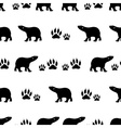 black bears walking seamless pattern eps10 vector image