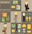 Business People Flat Cartoon vector image