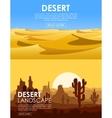 Desert set vector image