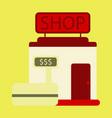 Flat icon shop vector image