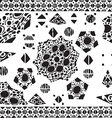 Geometric pattern ethnic colorful abstract vector image