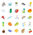 reward for winning icons set isometric style vector image