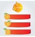 Shapes of orange fruit - set of banners vector image