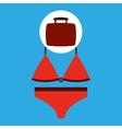 travel concept red bikini design vector image