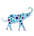blue dotted elephant vector image