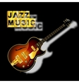 guitar jazz music with a blurred shadow vector image