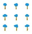 tree set decoration vector image