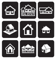House icons set Real estate vector image vector image