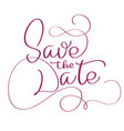 save the date text on white background vector image