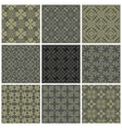 Seamless print patterns vector image vector image