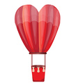 Heart hot air balloon vector image