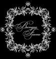 ornamental frame Baroque pattern vector image
