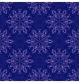 Seamless Mandala Pattern over dark blue vector image