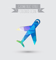 airplane symbol icon of air travel vector image