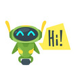 chat bot vector image