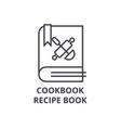 cookbook recipe book line icon outline sign vector image