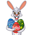 Easter bunny portrait vector image