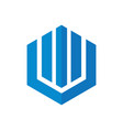 hexagon home building company logo vector image