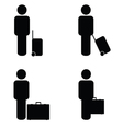 people travel icon vector image