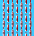 pop art vodka bottle seamless pattern vector image