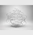 wireframe mesh element abstract swirl form with vector image